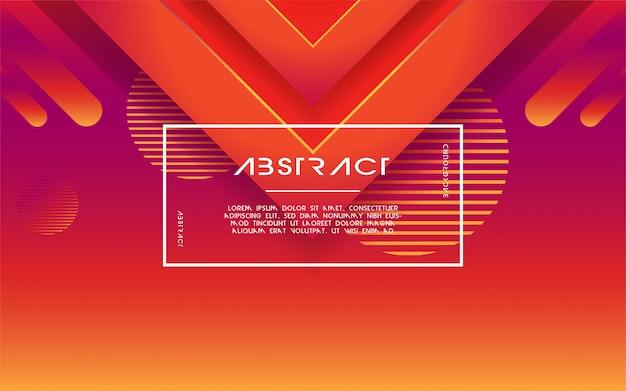 Priorità bassa astratta moderna di gradiente del triangolo 3d Vettore Premium