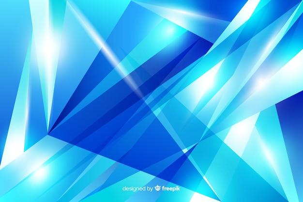 Priorità bassa blu astratta di figure del diamante Vettore gratuito