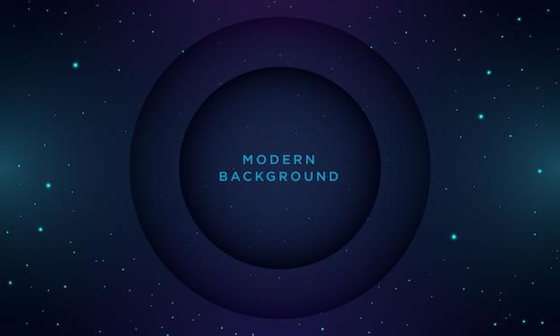 Priorità bassa blu scuro minima astratta con struttura e cerchio Vettore Premium