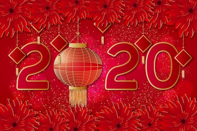 Priorità bassa cinese moderna di nuovo anno Vettore gratuito