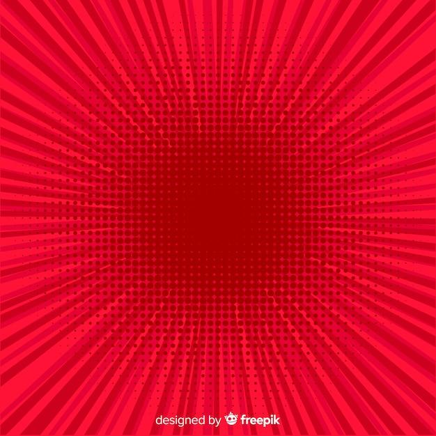 Priorità bassa comica di semitono rosso Vettore gratuito