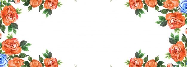 Priorità bassa creativa della bandiera dei fiori eleganti Vettore gratuito
