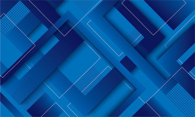 Priorità bassa d'avanguardia gradiente quadrato blu moderno Vettore Premium