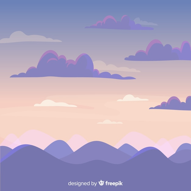 Priorità bassa del cielo disegnato a mano Vettore gratuito