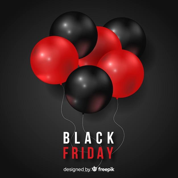 Priorità bassa del gruppo di palloncini di venerdì nero Vettore gratuito