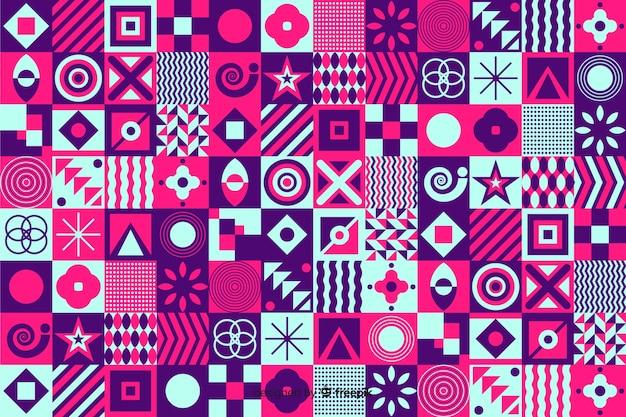 Priorità bassa del mosaico di forma geometrica colorata Vettore gratuito