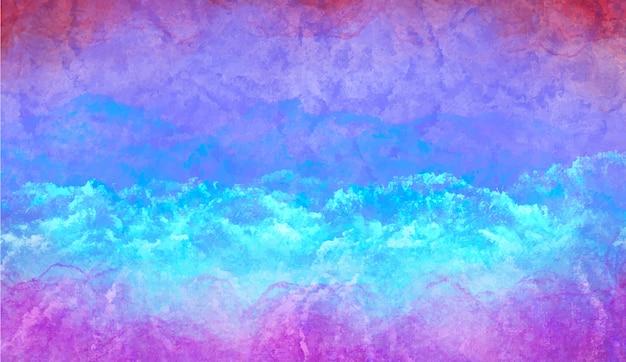 Priorità bassa dell'acquerello blu freddo Vettore gratuito