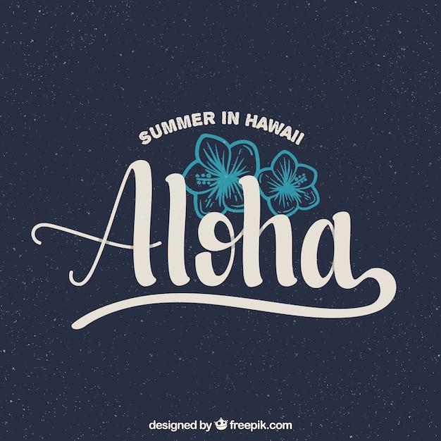 Priorità bassa dell'annata di aloha Vettore gratuito