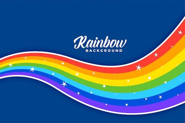 Priorità bassa dell'arcobaleno colorato ondulato Vettore gratuito