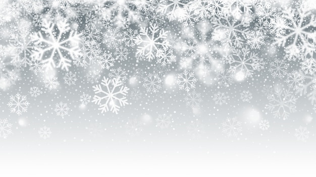 Priorità bassa dell'estratto di effetto della neve di caduta vaga di movimento Vettore Premium