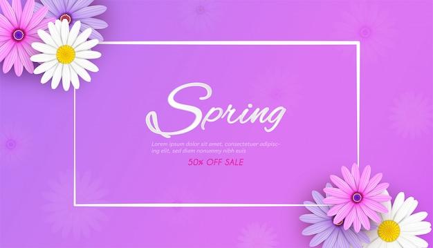 Priorità bassa della bandiera di vendita di primavera Vettore Premium