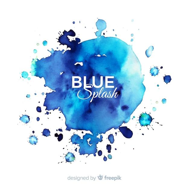 Priorità bassa della spruzzata dell'acquerello blu Vettore gratuito