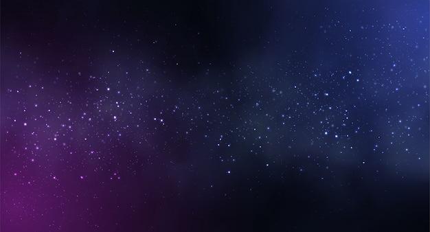 Priorità bassa dello spazio dell'universo con il cielo stellato Vettore Premium