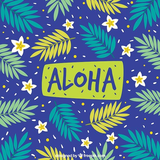 Priorità bassa di aloha Vettore gratuito