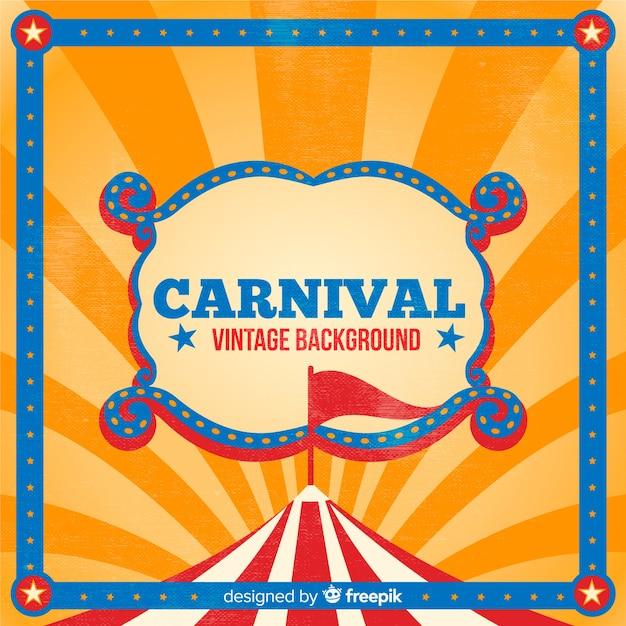 Priorità bassa di carnevale del circo dell'annata Vettore gratuito