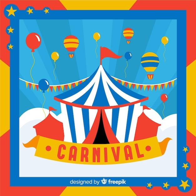 Priorità bassa di carnevale di tenda di circo Vettore gratuito