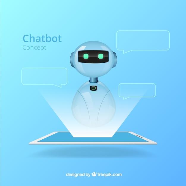 Priorità bassa di concetto di chatbot in stile realistico Vettore gratuito