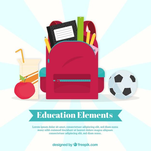 Priorità bassa di concetto di formazione con il sacchetto rosso Vettore gratuito