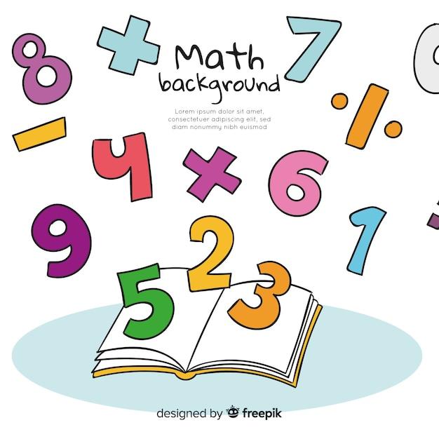 Priorità bassa di concetto di matematica del fumetto Vettore gratuito
