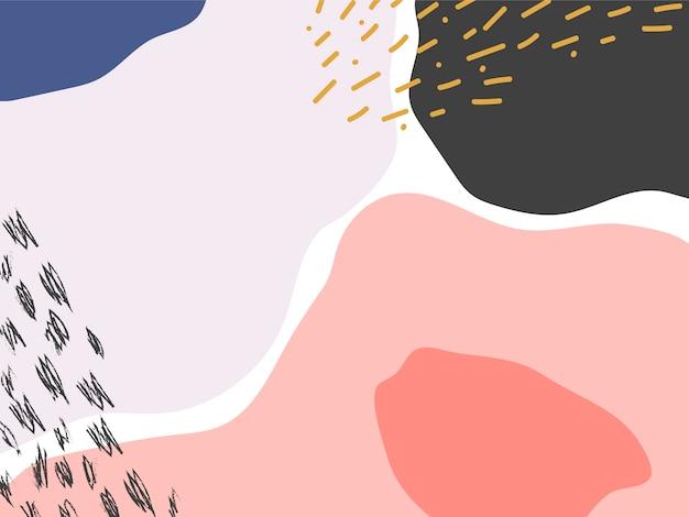 Priorità bassa di disegno colorato di memphis Vettore gratuito