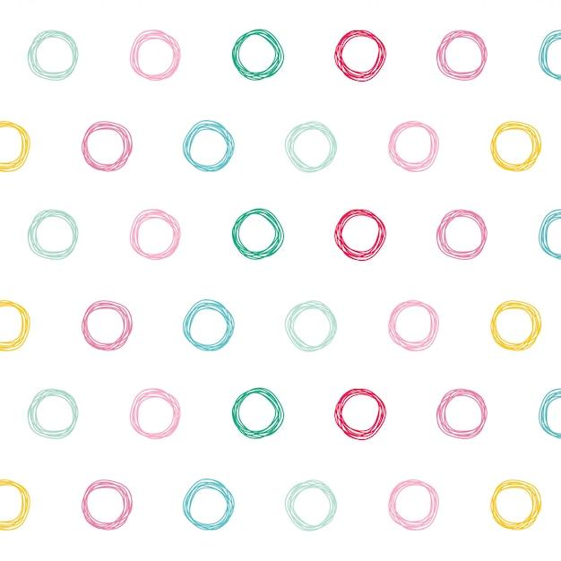 Priorità bassa di disegno del reticolo di cerchi colorati Vettore gratuito