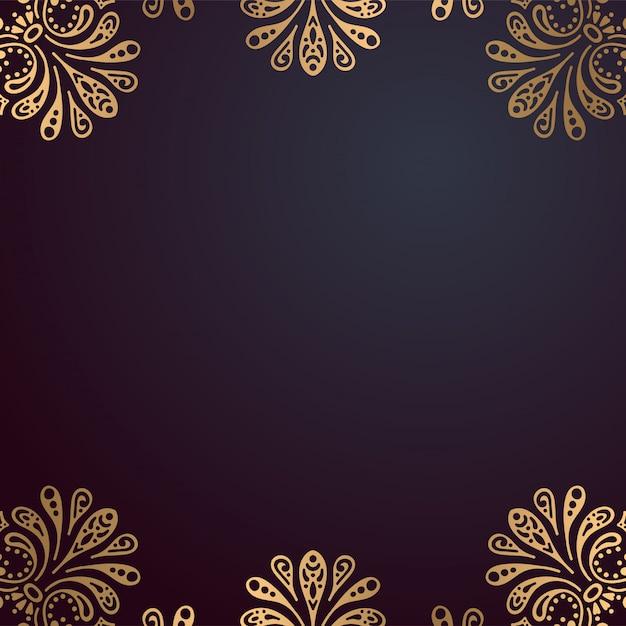Priorità bassa di disegno di lusso ornamentale mandala Vettore gratuito