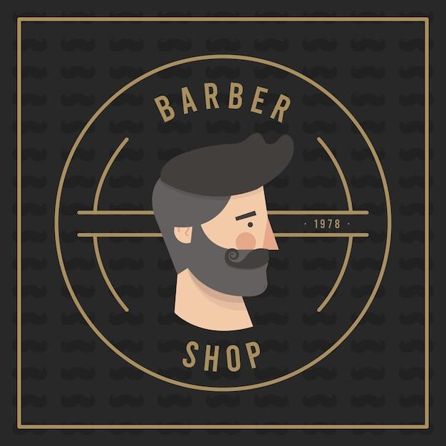Priorità bassa di disegno di movember con la barba dei pantaloni a vita bassa Vettore gratuito