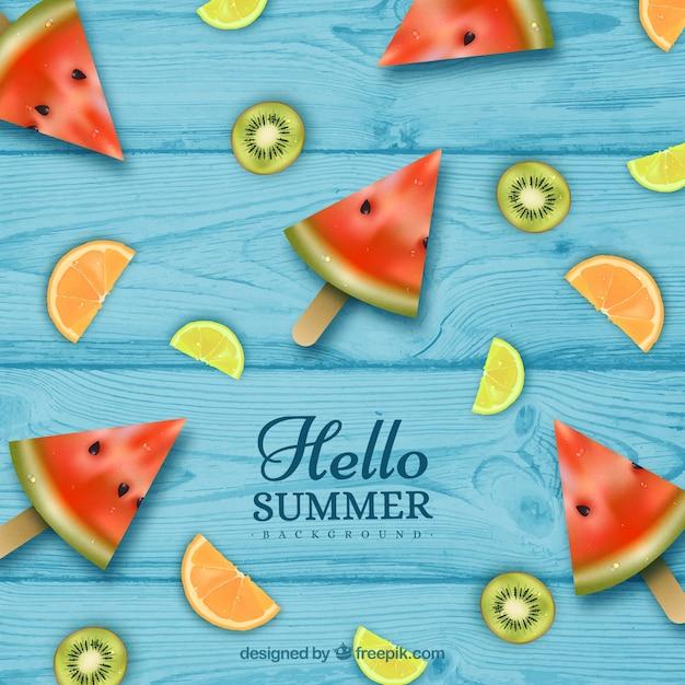 Priorit bassa di estate con diversi tipi di frutta in for Tipi di stile