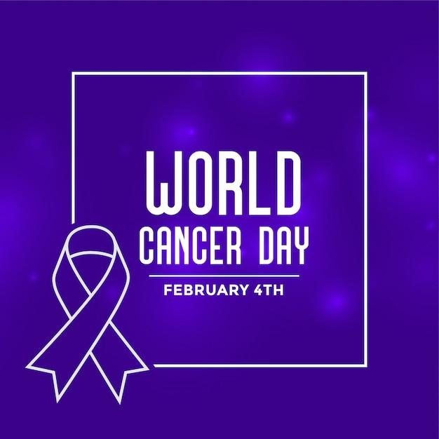 Priorità bassa di evento di giornata mondiale del cancro Vettore gratuito