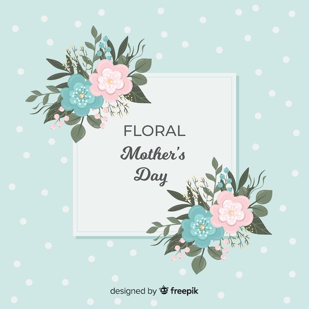 Priorità bassa di festa della mamma floreale Vettore gratuito