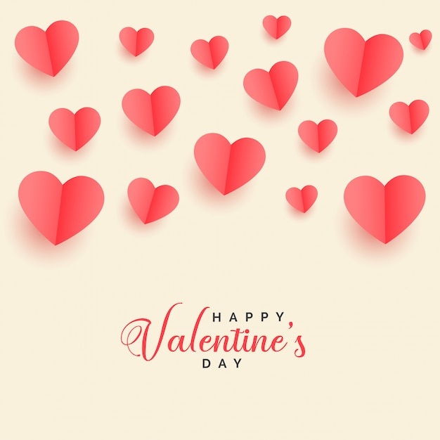 Priorità bassa di giorno dei biglietti di s. valentino di cuori adorabili del papercut Vettore gratuito