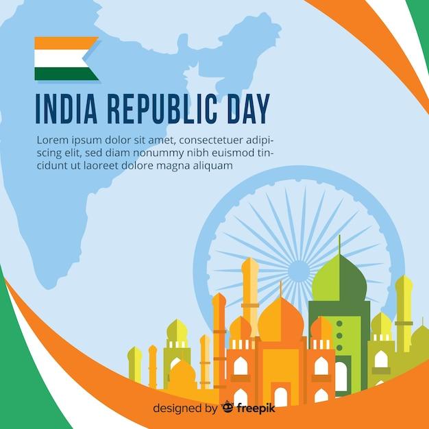 Priorità bassa di giorno della repubblica indiana Vettore gratuito
