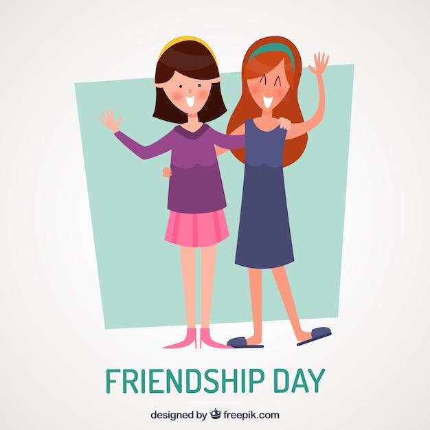 Priorità bassa di giorno di amicizia con i migliori amici Vettore gratuito