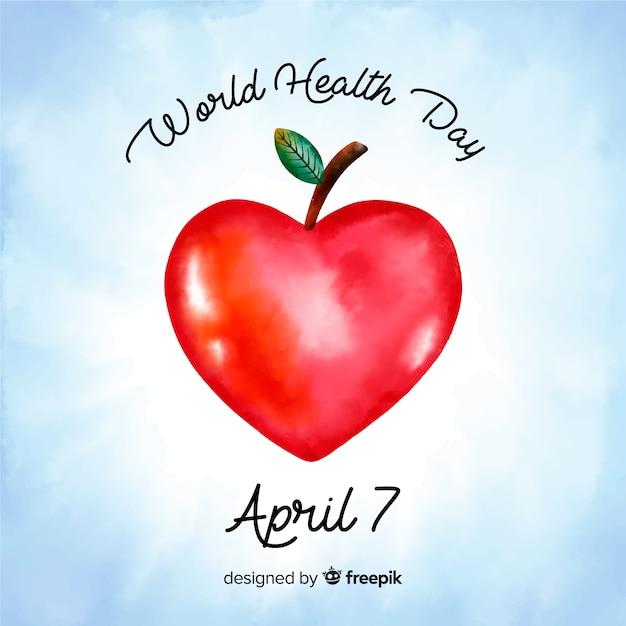 Priorità bassa di giorno di salute del mondo disegnato a mano Vettore gratuito