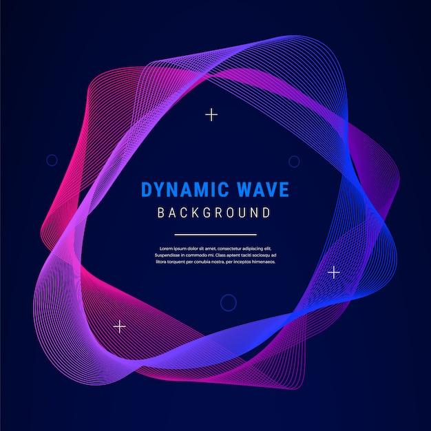 Priorità bassa di gradiente di onda dinamica astratta Vettore gratuito