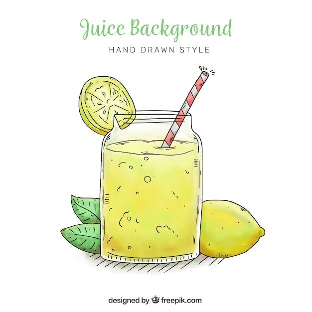 Priorità bassa di limonata nello stile disegnato a mano Vettore gratuito