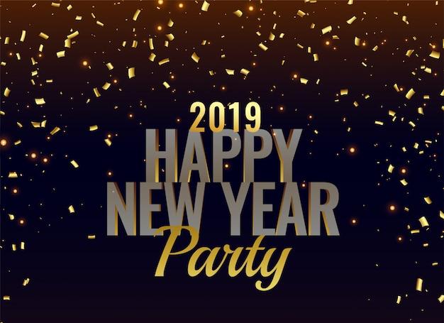 Priorità bassa di lusso del partito di nuovo anno 2019 Vettore gratuito