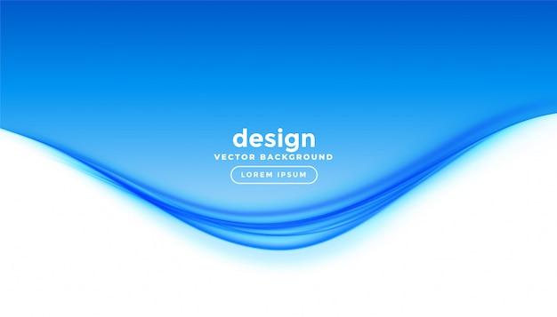 Priorità bassa di presentazione dell'onda blu elegante stile aziendale Vettore gratuito