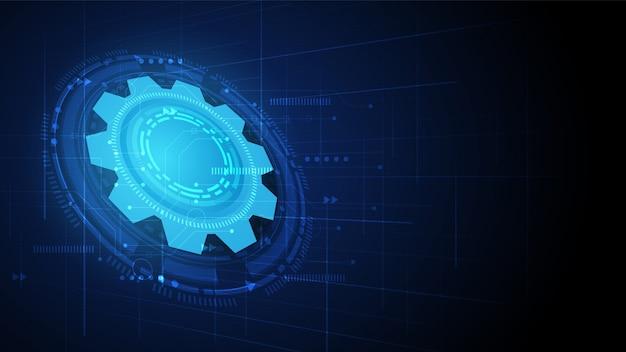 Priorità bassa di tecnologia del circuito dell'attrezzo Vettore Premium