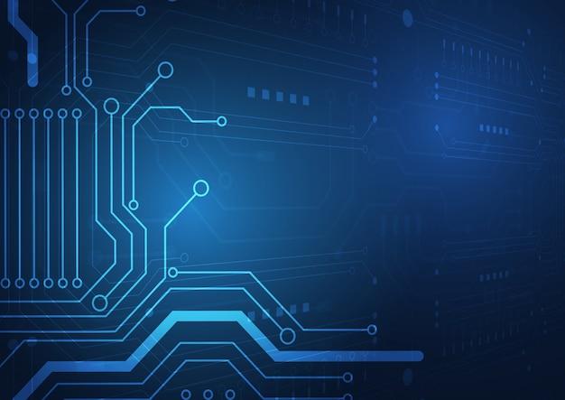 Priorità bassa di tecnologia del circuito Vettore Premium