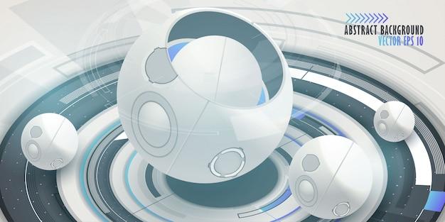Priorità bassa di tecnologia digitale hi-tech Vettore Premium