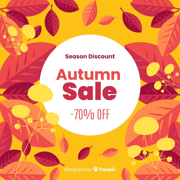 Priorità bassa di vendita di autunno in stile piano Vettore gratuito