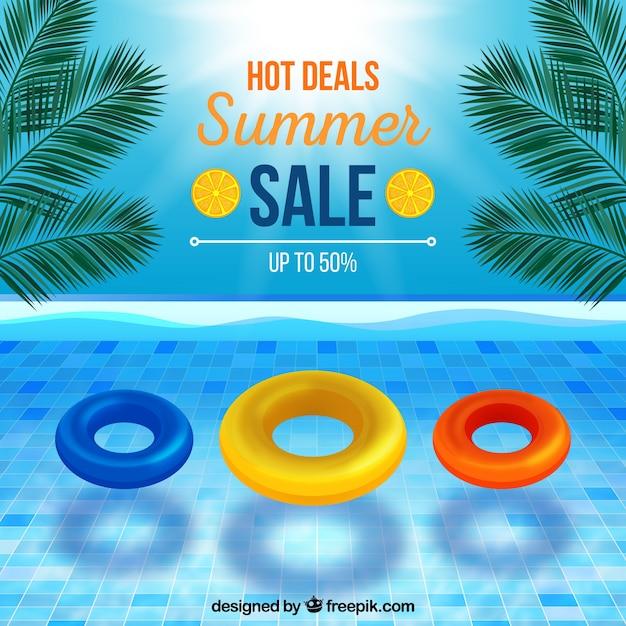Priorità bassa di vendita di estate in stile realistico Vettore gratuito