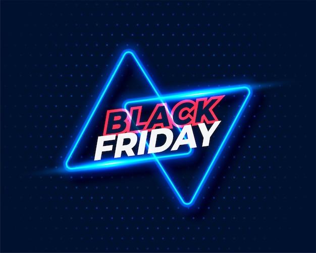 Priorità bassa di venerdì nero di stile al neon Vettore gratuito