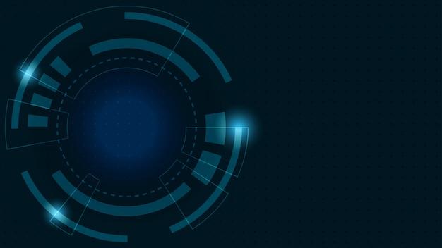 Priorità bassa digitale astratta trasformazione di crescita di affari a tecnologia finanziaria digitale e riuscita. Vettore Premium