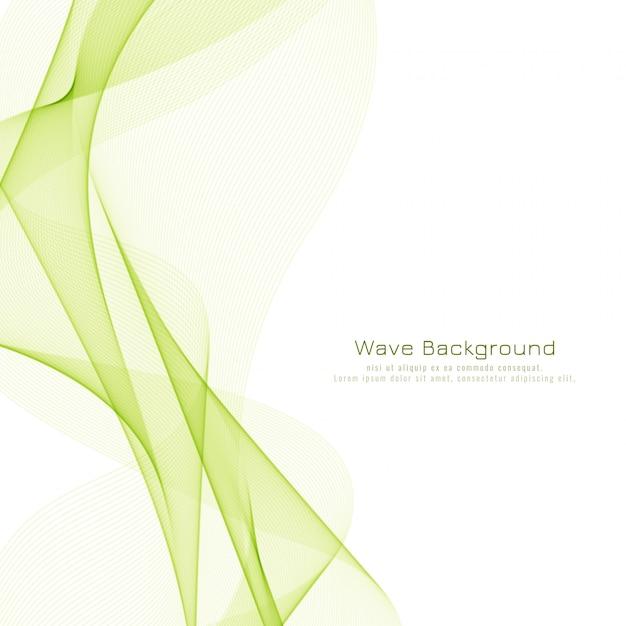 Priorità bassa elegante dell'onda verde astratta Vettore gratuito