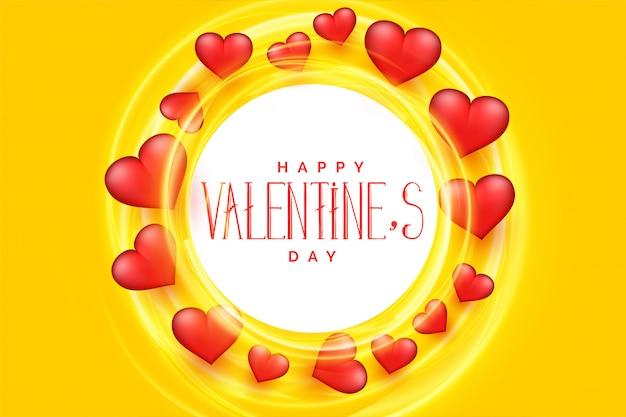Priorità bassa felice del blocco per grafici dei cuori di giorno dei biglietti di s. valentino 3d Vettore gratuito