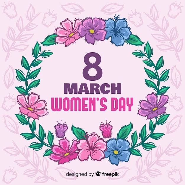 Priorità bassa floreale di giorno delle donne Vettore gratuito