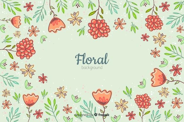 Priorità bassa floreale disegnata a mano variopinta Vettore gratuito