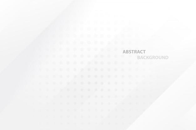 Priorità bassa geometrica astratta di colore bianco e grigio. Vettore Premium
